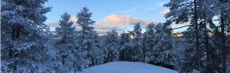 La Serranía de Cuenca acumula medio metro de nieve el primer día de la primavera