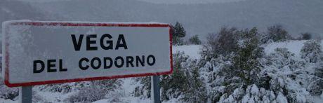 Medio metro nieve en Vega del Codorno, donde están sin luz desde ayer