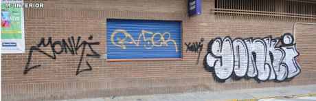 Detenidos dos jóvenes grafiteros en Tarancón