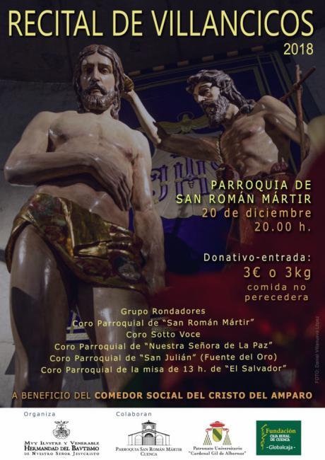 La M. I. V. del Bautismo organiza su IV Festival de Villancicos a beneficio del comedor social del Cristo del Amparo