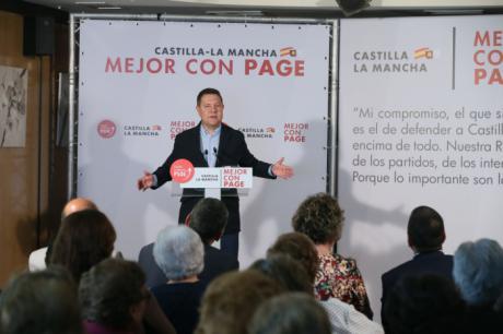 García-Page arranca la campaña comprometiéndose a situar a Castilla-La Mancha por delante de todo