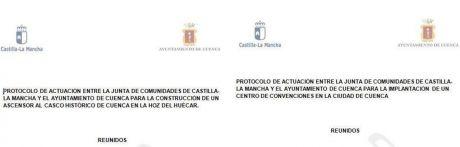 La Junta registra en el Ayuntamiento dos protocolos de actuación para la construcción de un ascensor al Casco Antiguo y un centro de convenciones
