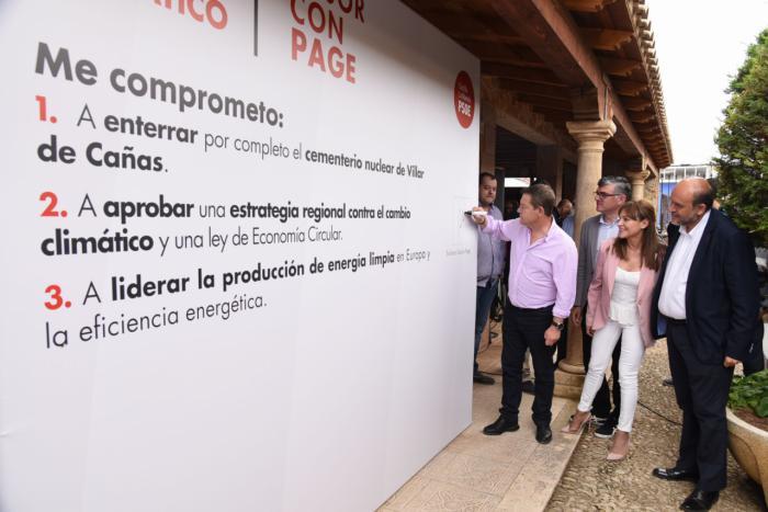 García-Page se compromete a 'cerrar en banda' la instalación de ATC en Villar de Cañas