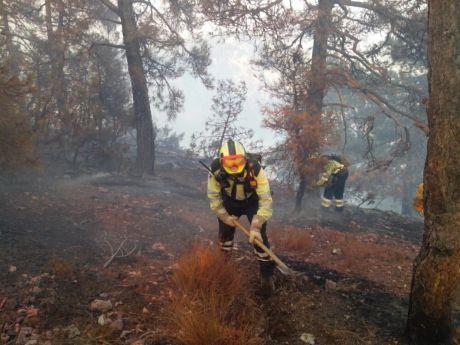 Finaliza el simulacro de incendio forestal en Cañete