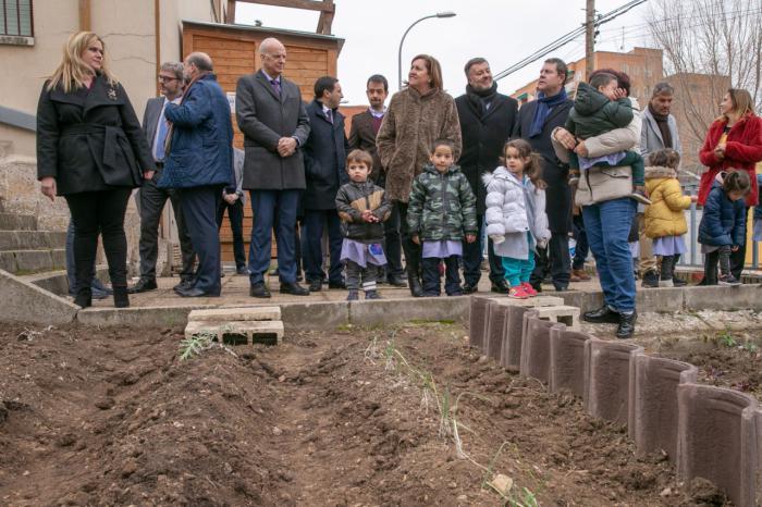 El presidente de Castilla-La Mancha, Emiliano García-Page, inaugura el nuevo pabellón polideportivo del Colegio de Educación Infantil y Primaria, 'Federico Muelas'
