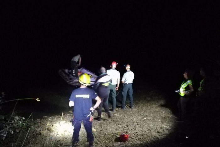 Rescatado el cuerpo sin vida de la mujer que cayó con su vehículo al pantano de Alarcón