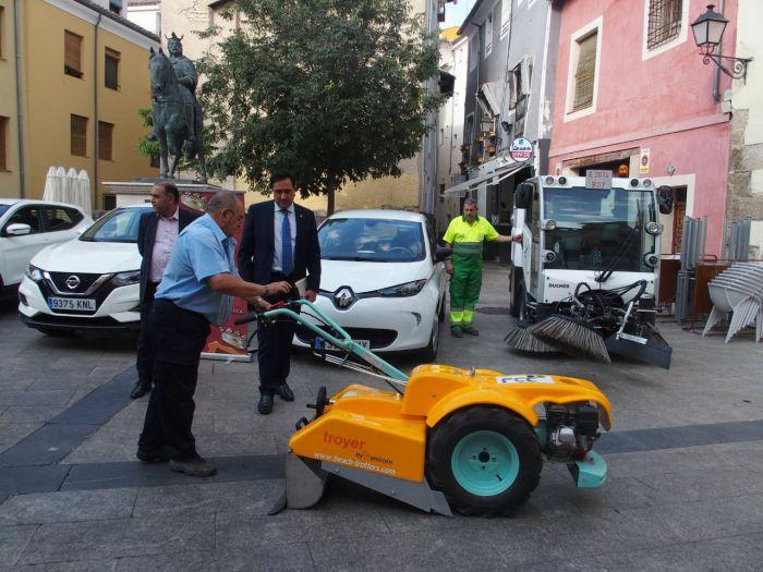 El servicio de limpieza de Cuenca incorpora a su flota vehículos y maquinaria de última generación