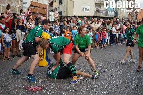El Club Rugby A Palos participó en el tradicional desfile de carrozas de San Julián