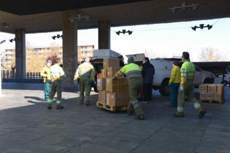 Nuevo envío con más de 686.000 de artículos de protección para los profesionales de los centros sanitarios de región
