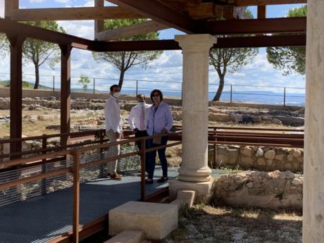 Bellido visita el yacimiento de Ercávica en Cañeveruelas