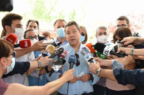 """García-Page valora que los datos de empleo del mes de junio en la región sean positivos """"por encima de la media"""""""