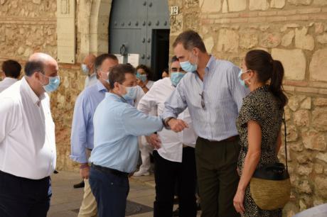 García-Page apela durante la visita de los reyes a Cuenca a mantener la esperanza y la unidad