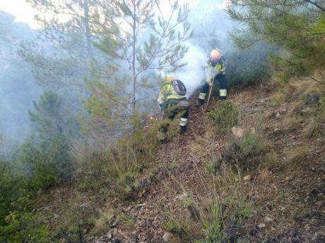 Declarado un incendio forestal en Fuentes