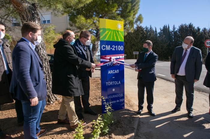 Concluyen las obras de mejora de la CM-2100 entre Arcas y Tórtola