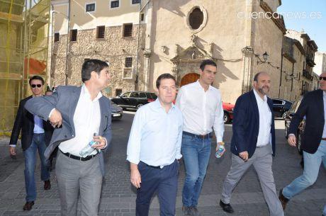 García-Page y Sánchez mantienen este lunes en el Palacio de la Moncloa su primera reunión oficial