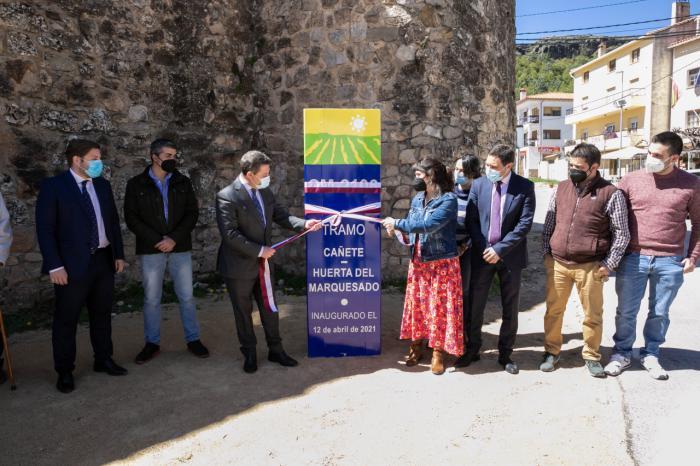 Concluyen las las obras de mejora de la CM-2106 entre Cañete y Huerta del Marquesado