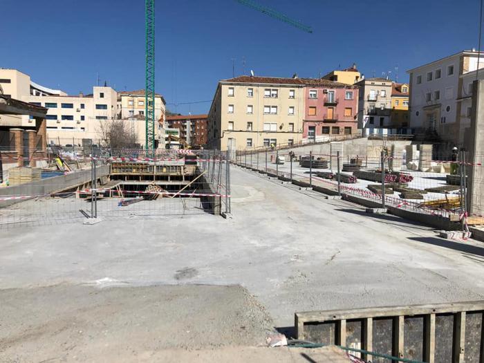 Estado actual de las obras el aparcamiento de Astrana Marín