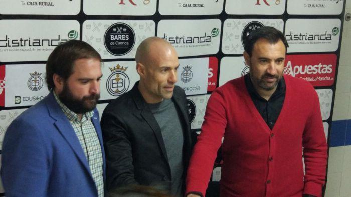César Laínez se estrena como nuevo entrenador del Conquense en Sabadell