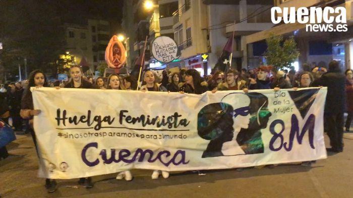 El feminismo hace historia en Cuenca en un multitudinario 8M