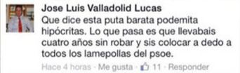 José Luis Valladolid (PP) tendrá que indemnizar con 8.000 euros a Cristina Maestre (PSOE) por llamarla 'puta barata podemita'