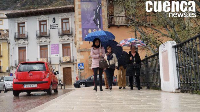 La borrasca se instala sobre Cuenca y pasa por agua el resto de Semana Santa