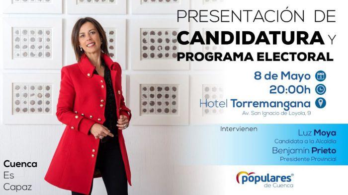 Luz Moya presenta este miércoles su candidatura y su programa electoral en un acto abierto a todos los conquenses