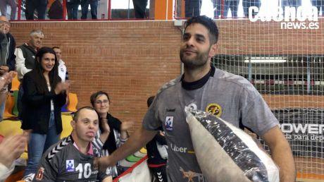 Despedida de David Mendoza tras doce temporadas en el Liberbank Cuenca