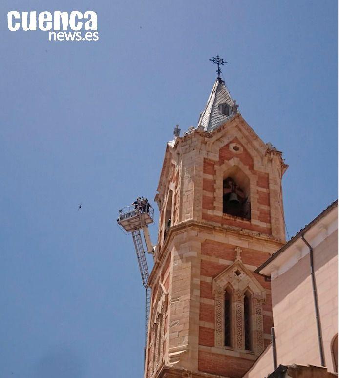 El Consorcio avanza en la reparación y consolidación del chapitel de la Iglesia de El Salvador