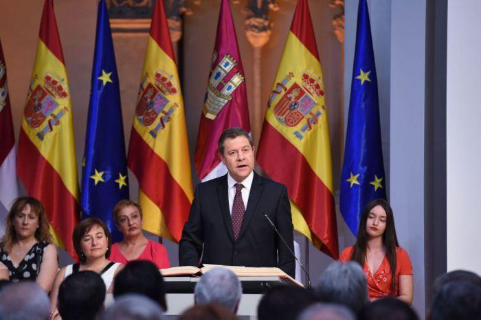 García-Page jura como presidente de C.-La Mancha para una segunda legislatura