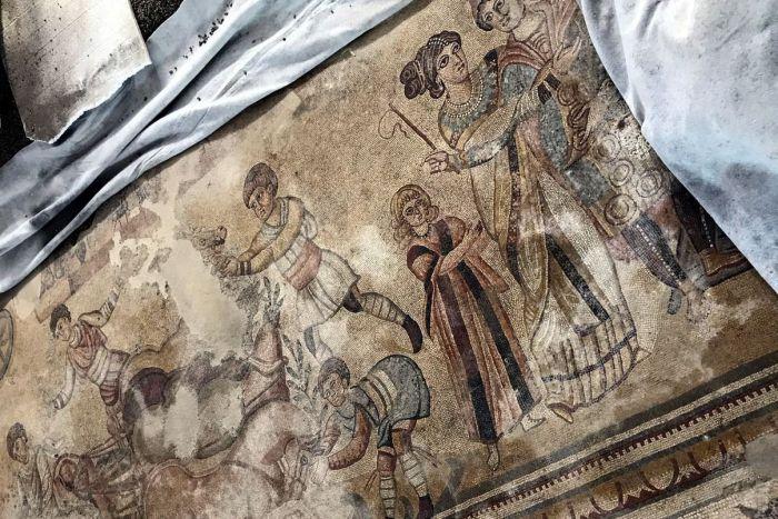 El mosaico de Noheda será visitable de forma 'provisional' desde el próximo día 19 de julio