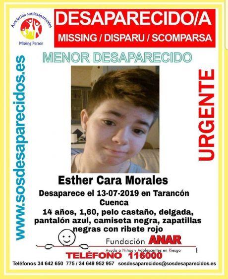 Alertan de la desaparición de una niña de 14 años en Tarancón
