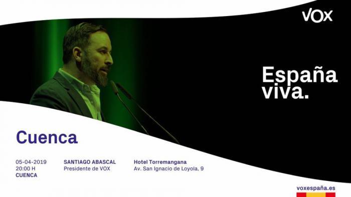 Santiago Abascal estará en Cuenca este viernes