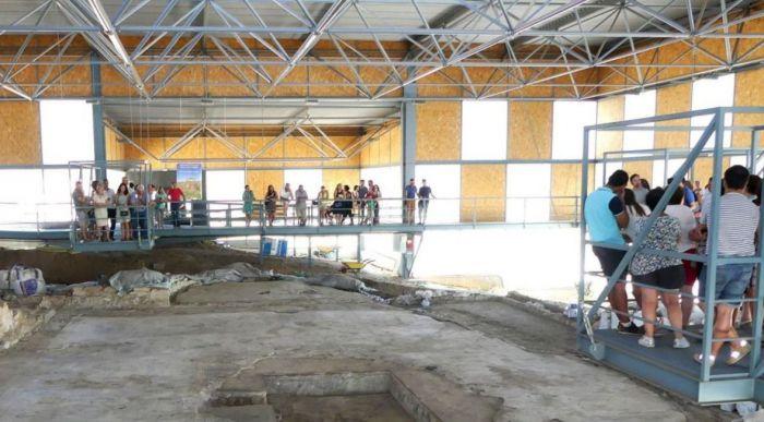 'Éxito' de visitas en la villa romana de Noheda