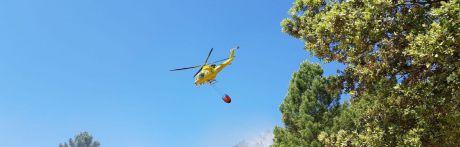 Declarado un incendio forestal entre Almodóvar del Pinar y Barchín del Hoyo