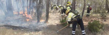 """El incendio de Barchín del Hoyo, """"próximo a estabilizarse"""""""
