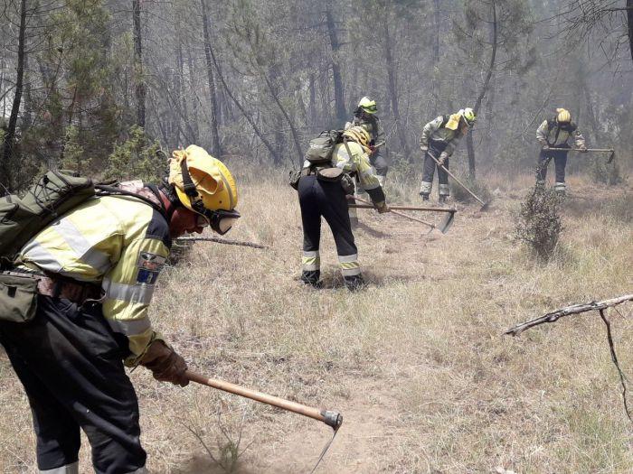 Estabilizado el incendio de Barchín del Hoyo
