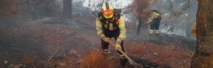 Se declara un incendio en un bosque de Fuentenava de Jábaga