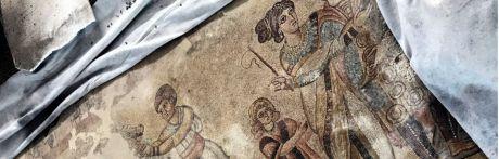 Comienzan las tareas de restauración del mosaico romano de Noheda