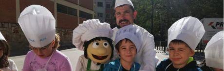 Curso de cocina saludable en el colegio de Santa Ana con el