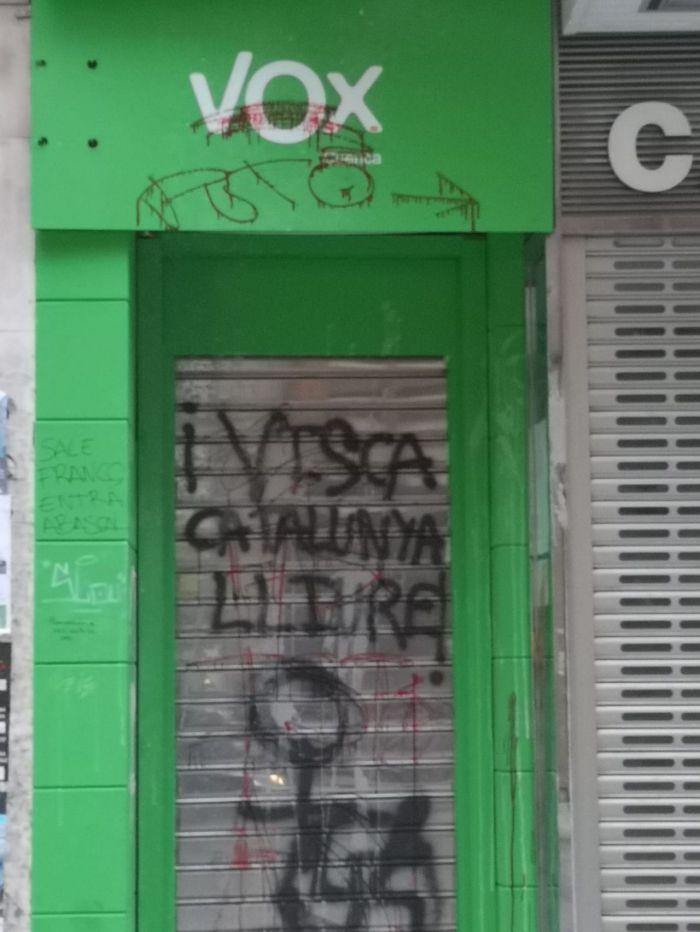 Cuarta agresión en dos semanas a la sede de Vox de Cuenca, ahora en Halloween