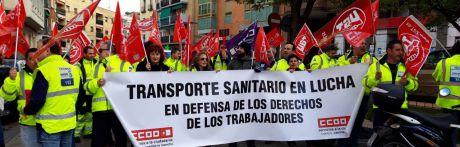 Segundo día de movilizaciones antes de la Huelga General del jueves en el sector de las ambulancias en la provincia