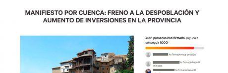 El Manifiesto por Cuenca será debatido en los plenos municipales de la provincia