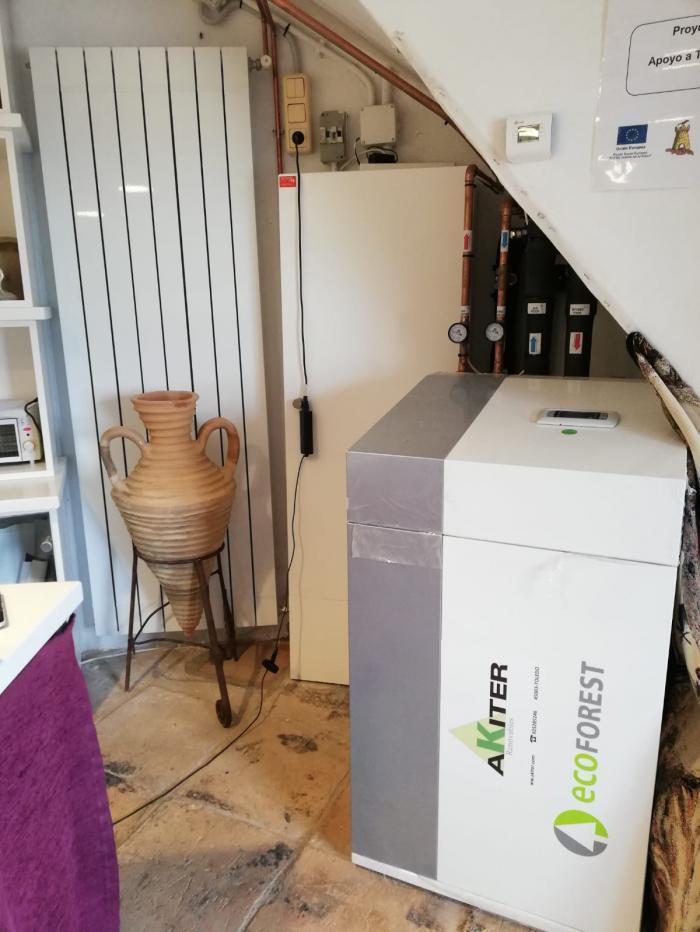 Los molinos de viento de Mota del Cuervo estrenan calefacción con energía renovable