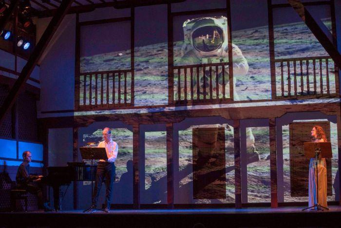 Manuel Cepero, Benjamín Montesinos y Silvia Marsó en el Corral de Comedias (Crédito de la imagen: Festival Internacional de Teatro Clásico de Almagro).