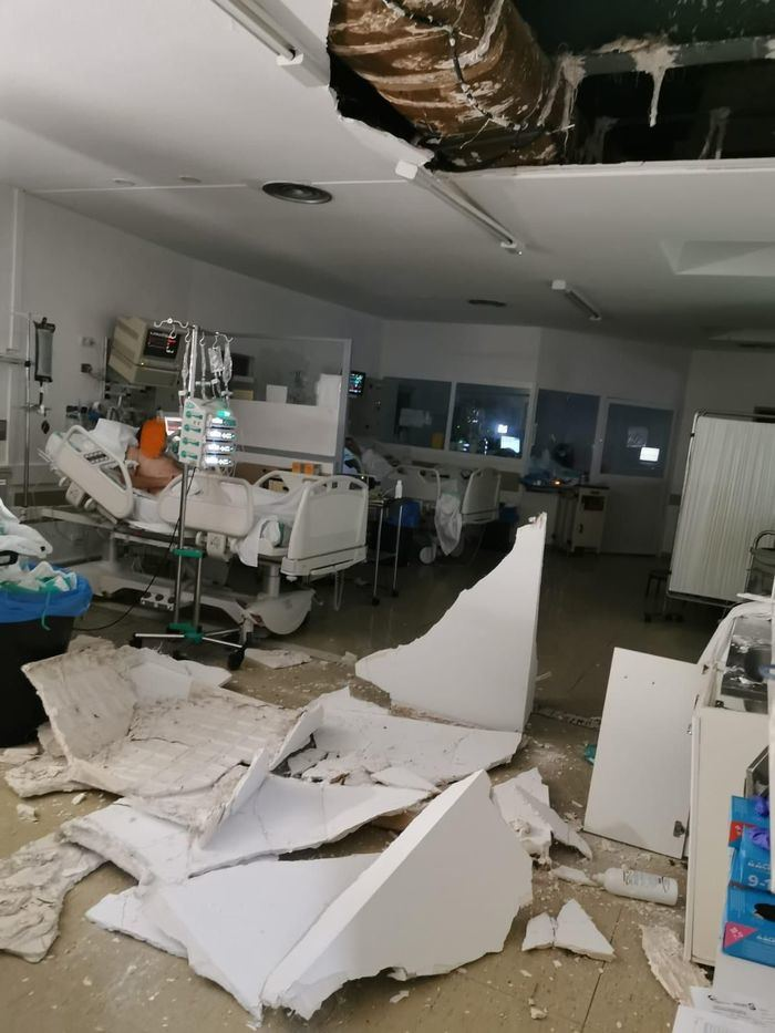 El PP puntualiza que en el desprendimiento del techo de la UCI sí hubo peligro para pacientes y que no fue en un pasillo