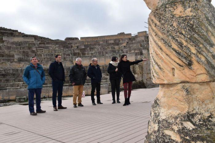 Se invertirán 285.000 euros en la rehabilitación y consolidación del teatro, anfiteatro y foro de Segóbirga