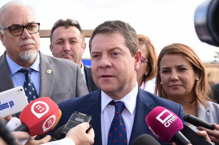 Gacía-Page lamenta la muerte de un trabajador en Tarancón: 'Es un día triste'