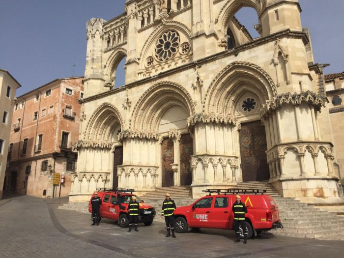 La Unidad Militar de Emergencias en Cuenca