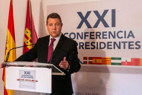 El presidente de Castilla-La Mancha, Emiliano García-Page, participa en el Monasterio de Yuso, en San Millán de la Cogolla (La Rioja), en la XXI Conferencia de Presidentes autonómicos