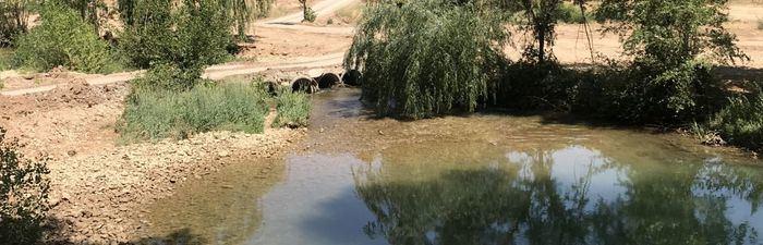 Río Júcar, a su paso por el recinto ferial
